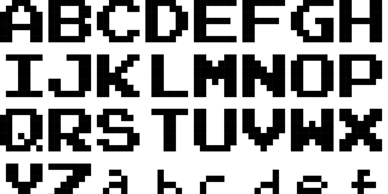 Nintendo NES Font | FontStruct