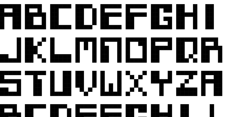 Robotron 2084 Fontstruct